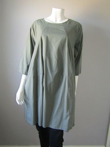 New Arrivals Lagenlook Dress Sage Green Dress Clothes