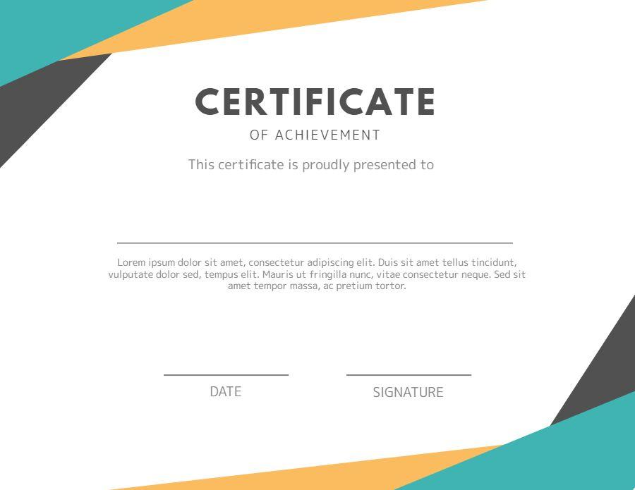 certificate of achievement diploma design template modern