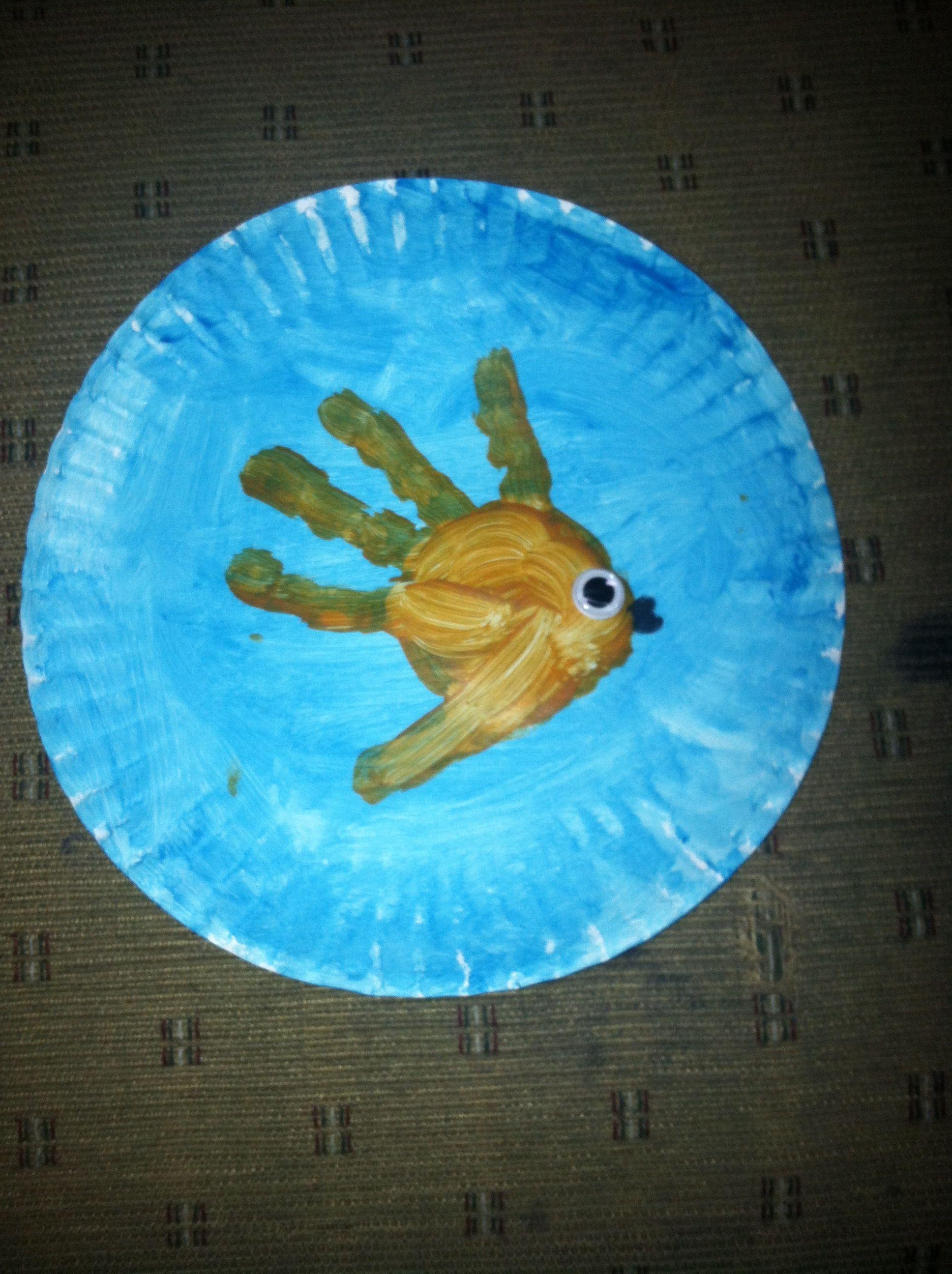 Preschool craft: Fish in it's fish bowl | Preschool crafts ...