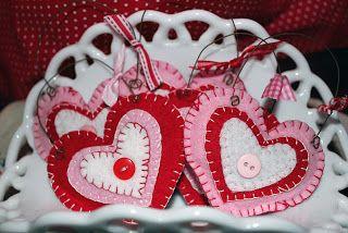 Stacy Kay Creations: Felt Valentine Ornies..