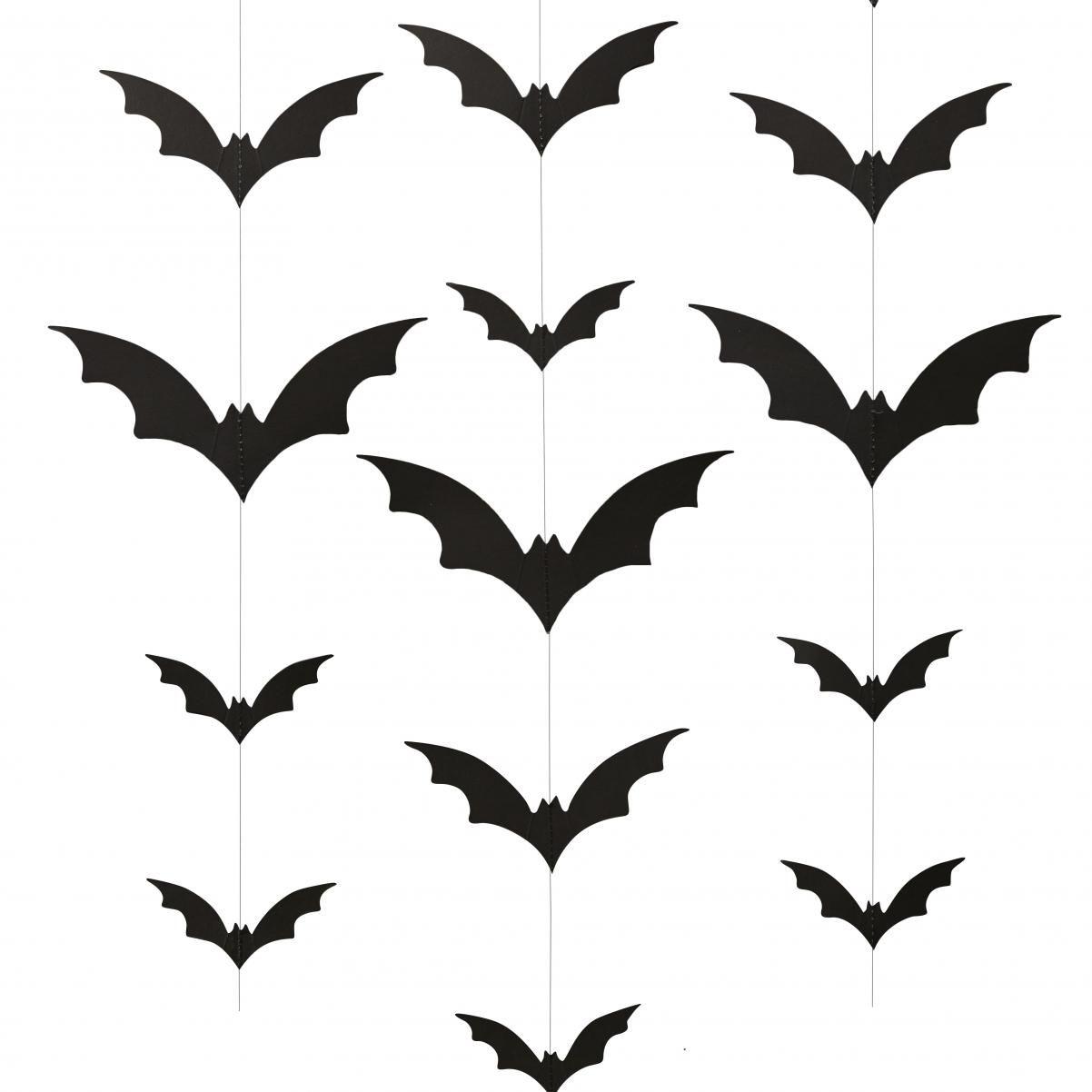 6 Vertikale Fledermaus Girlanden Halloween Girlande Girlanden Dekoration Girlanden