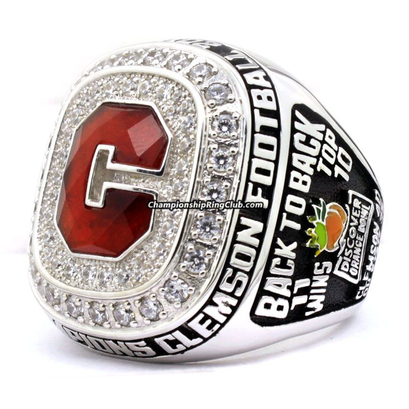 clemson win clemsons orange over bolt bowl arrive photo rings oklahoma college for s