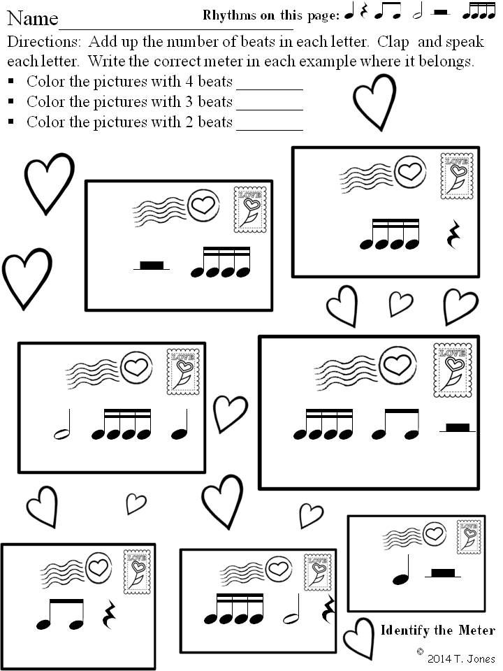 Music Worksheets:Math, Rhythmic Notation, Composing