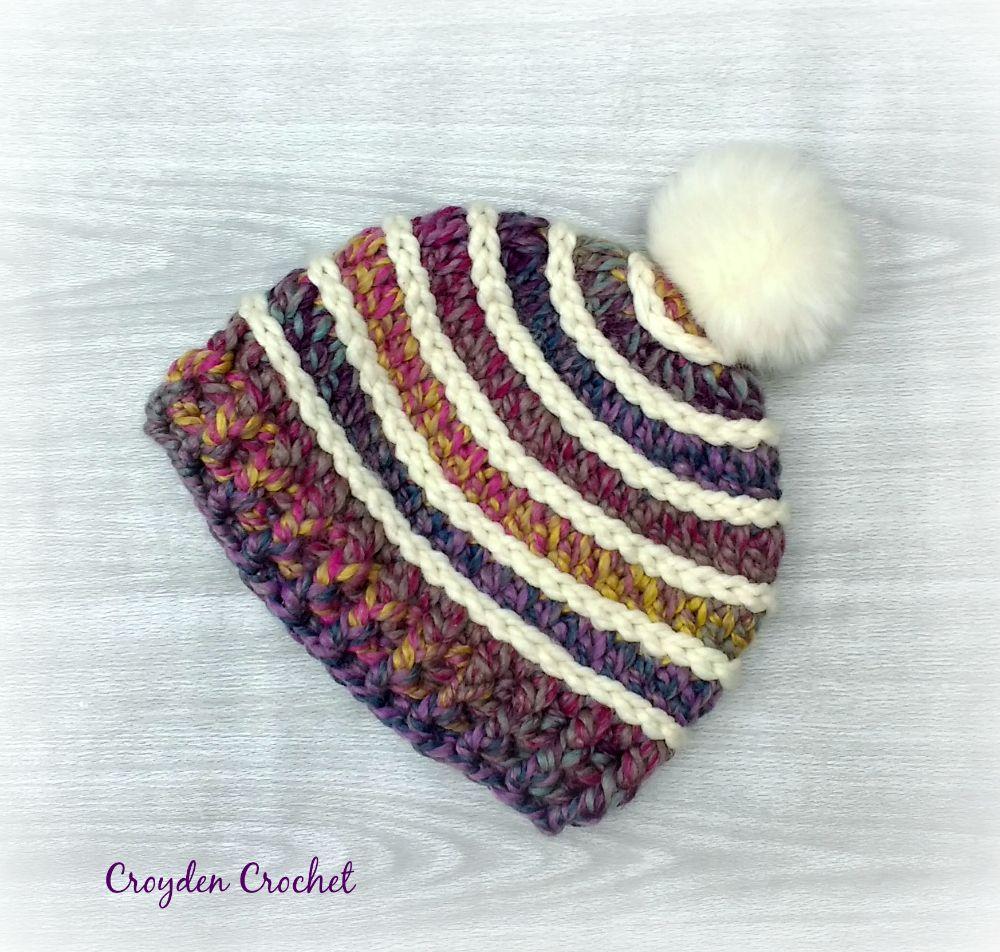 Spectrum Beanie - A free crochet pattern by | Invierno, Patrones y ...