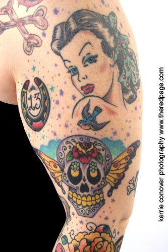 Sailor jerry style tattoo pinterest sailor jerry for Sailor jerry pin up tattoos