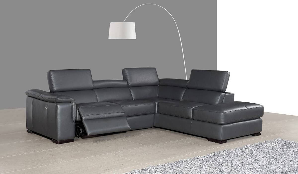 Unique Corner Sectional L Shape Sofa Leather Reclining Sectional