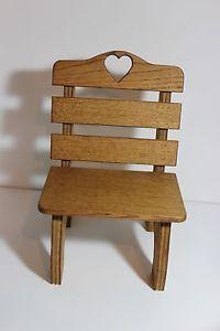 Oak Wood Wooden Doll Chair Fits 18  American Girl Dolls and Stuffed Animals | eBay