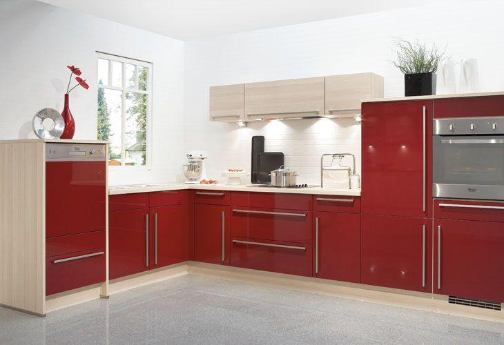k che in rot eckk che rote k chen pinterest kitchens kitchen. Black Bedroom Furniture Sets. Home Design Ideas