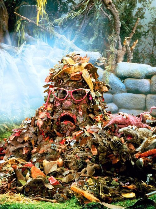 The Trash Heap has Spoken!!  Marjory the sentient compost pile from Fraggle Rock