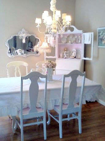 Olivia's Romantic Home Shabby Chic Dining Room  Pale Pastel Captivating Shabby Chic Dining Room Table Decorating Inspiration