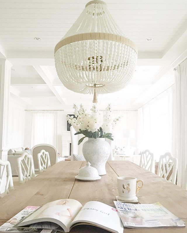 pottery beaded products white o barn francesca chandelier