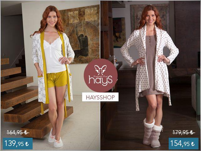 haysshop.com 'da müthiş indirimler devam ediyor. #pijama #gecelik Pijama : https://www.haysshop.com/u/anabayan/hays-chloe-penye-bayan-sabahlikli-sortlu-pijama-takimi  Gecelik : www.haysshop.com/u/anabayan/hays-lali-bayan-polar-sabahlikli-penye-gecelik-takimi