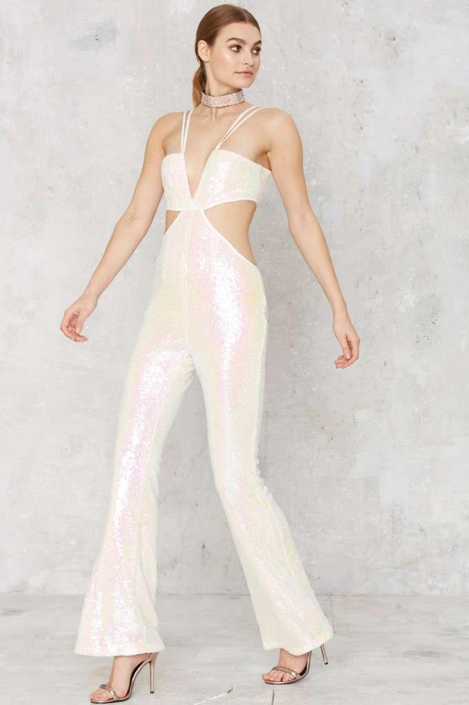17a54e78ba06 Glamorous Pop Fizz Clink Sequin Jumpsuit - Clothes