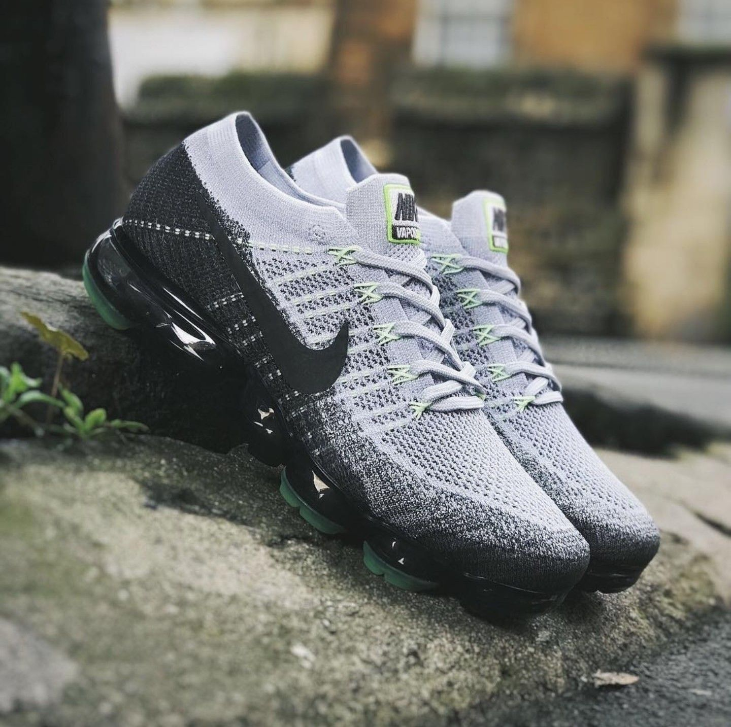 new product a8fbe afe27 Nike Air VaporMax Flyknit. Pure Platinum White Dark Grey Anthracite