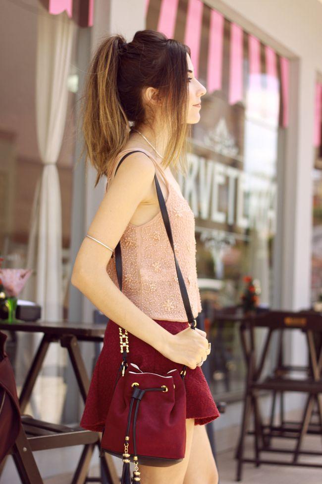 FashionCoolture - 09.12.2015 look du jour Pandora rings baby pink top Burgundy (2)