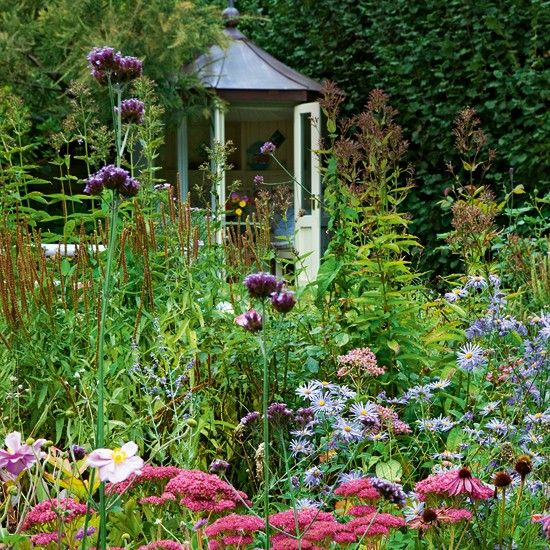 Flower Garden With Outhouse Country Cottage Garden Tour Garden Tour Garden Design Ideas
