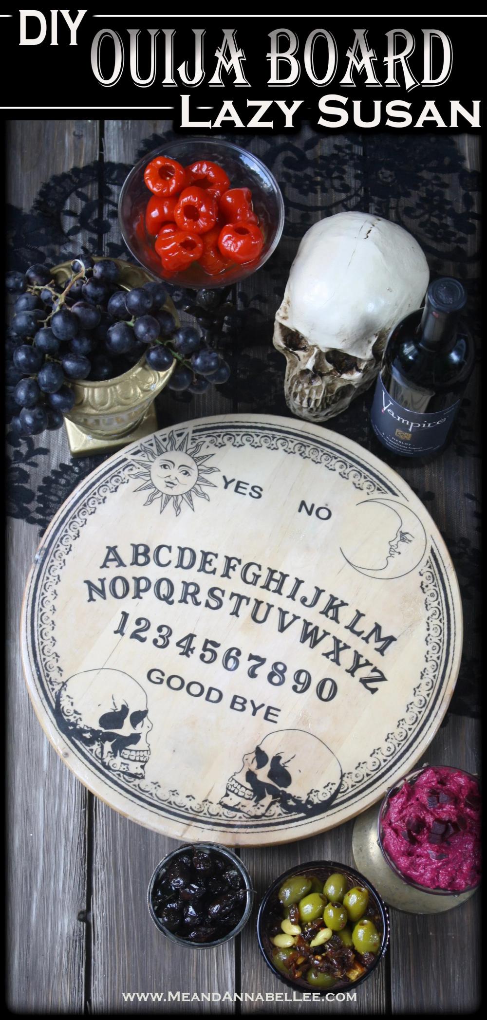 Ouija Lazy Susan Cheese Board Image Transfer Halloween