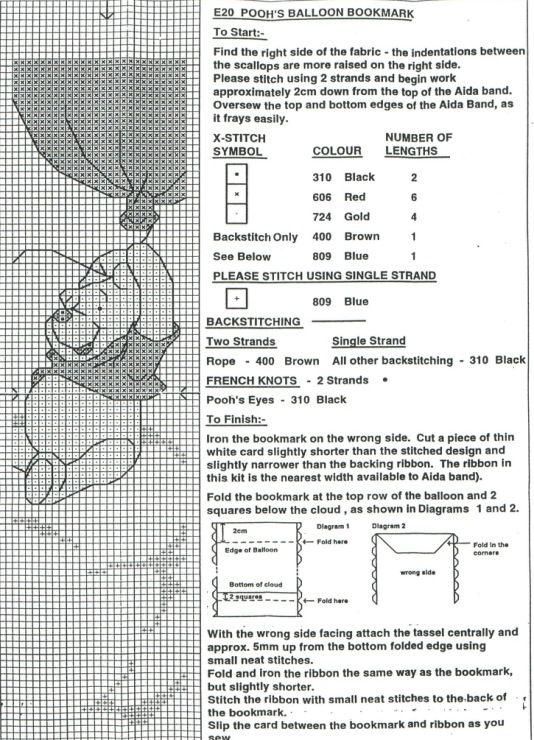 Cross-stitch Pooh Balloon Bookmark... Gallery.ru / Фото #2 - E020 - Milka35