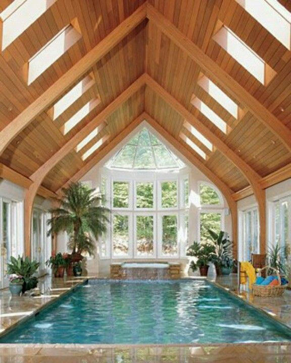Cool pools indoor in houses swimming also best dream house images future inside pool rh pinterest