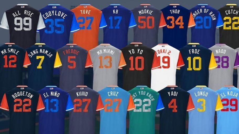 It S Uniform Change For Mlb S Players Weekend Mlb Players Baseball Uniforms Mlb