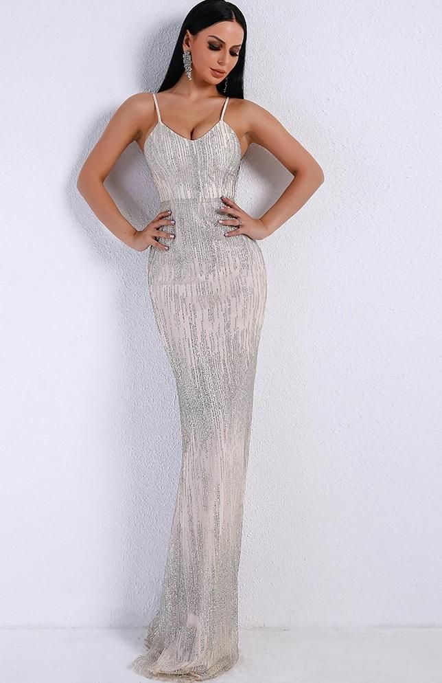 Silver Evening Gown Silver Evening Gowns c1b7f13ca838