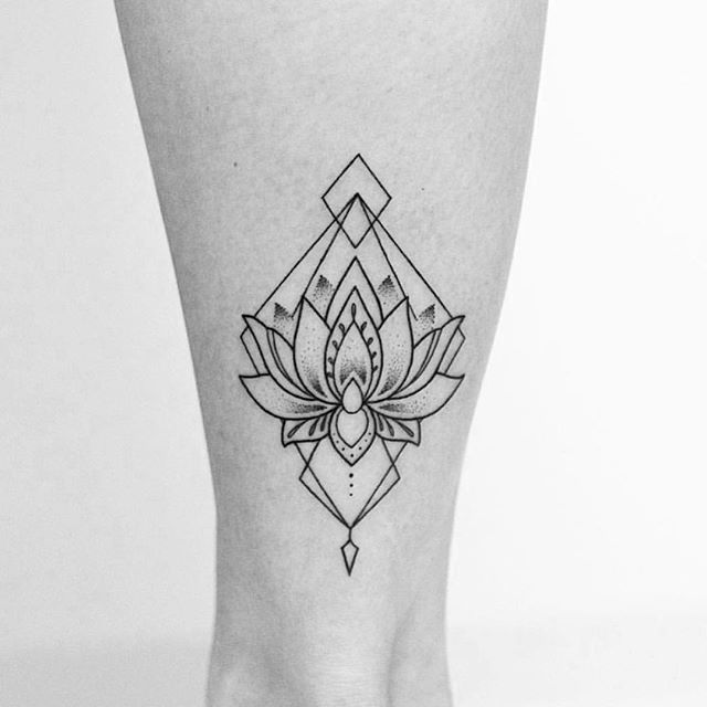 geometric flower tattoo color - photo #22