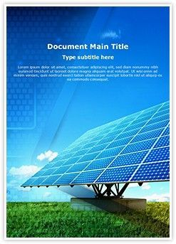 Solar Panel Word Document Template Is One Of The Best Word Document Templates By Editabletemplates Com Editabletempla Solar Panels Word Template Design Solar