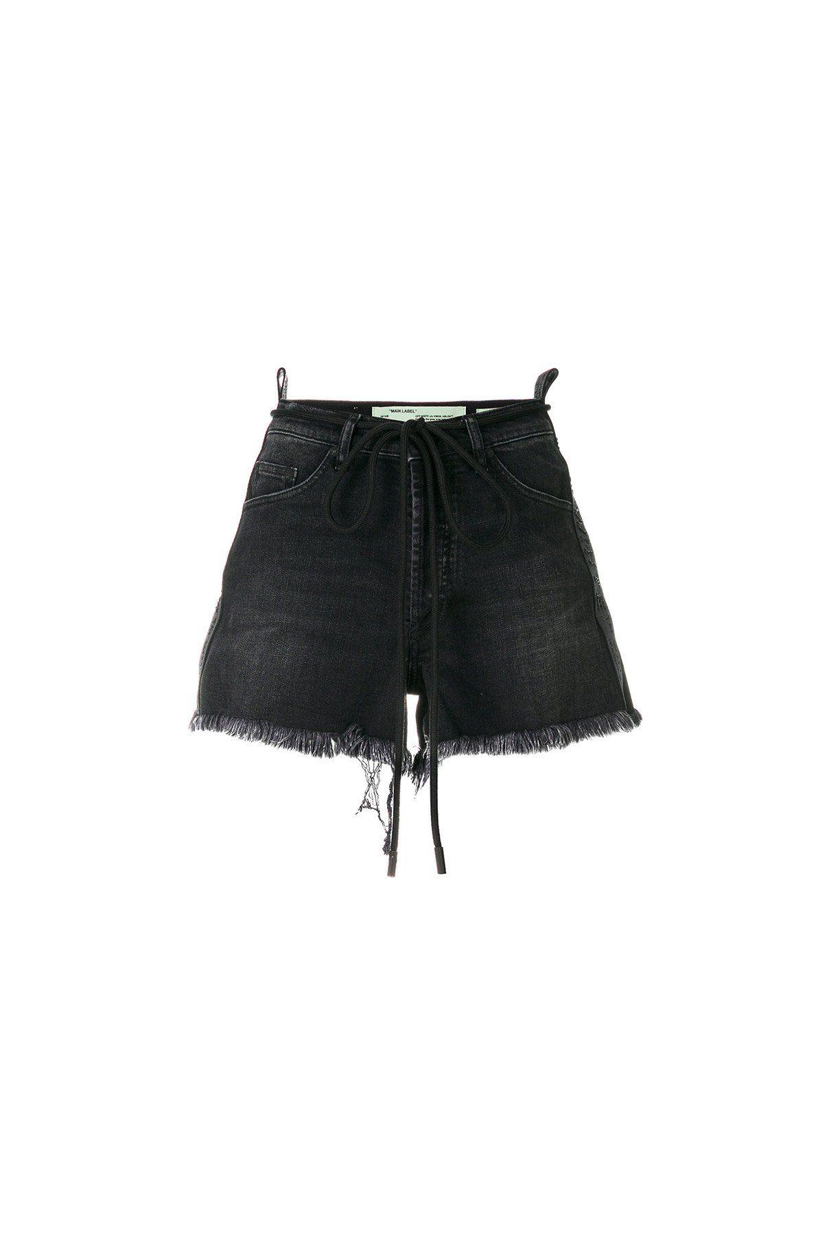 74162f547 {Off-White / 01 clothing / 03 bottom / 03 short} Crystal 5 Pocket Denim  Shorts