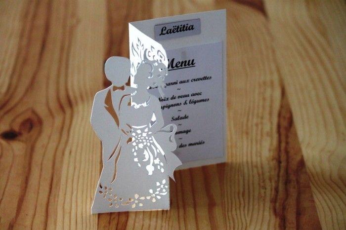 Tutorial per menu nozze kirigami