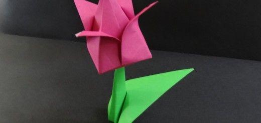 Origami-tulppaani