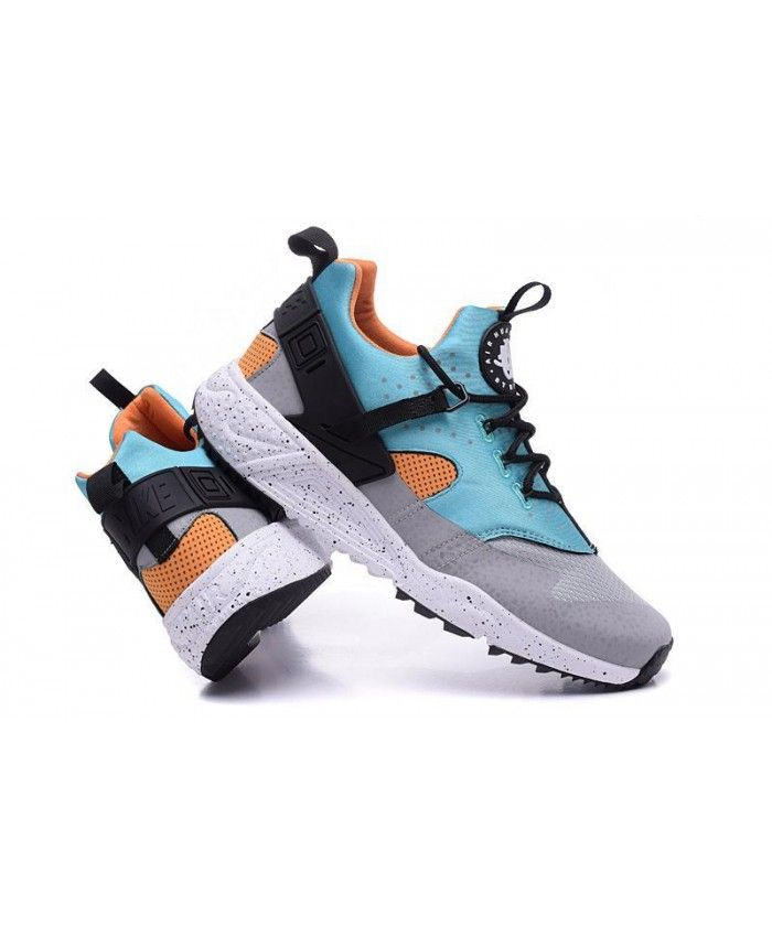 buy online e9701 e6c48 Nike Air Huarache Utility Sky Blue Grey Black Trainers