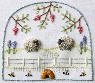 Stumpwork Sheep 3 Embroidery Pattern By Theflossbox On Etsy