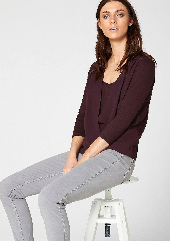 Shirt mit Chiffon-Layering von s.Oliver. Entdecken Sie jetzt topaktuelle Mode für Damen, Herren und Kinder online und bestellen Sie versandkostenfrei.