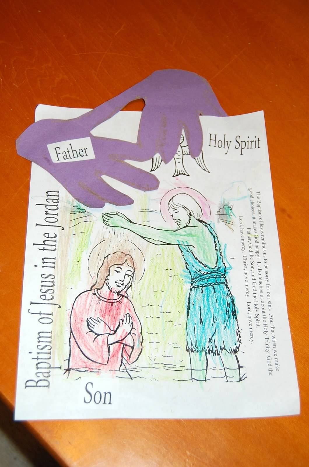 St John The Baptist Baptism Of Jesus Feast Day Craft
