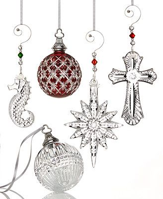 Waterford Crystal Christmas Ornaments Collection Lux Christmas - christmas decorations sale