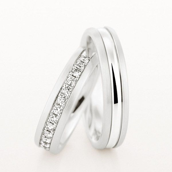 A Pair Of Platinum Wedding Rings By Christian Bauer Bandwidth 5 Mm