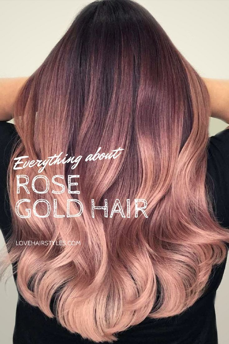 Why And How To Get A Rose Gold Hair Color in 2018 | Cabellos ...