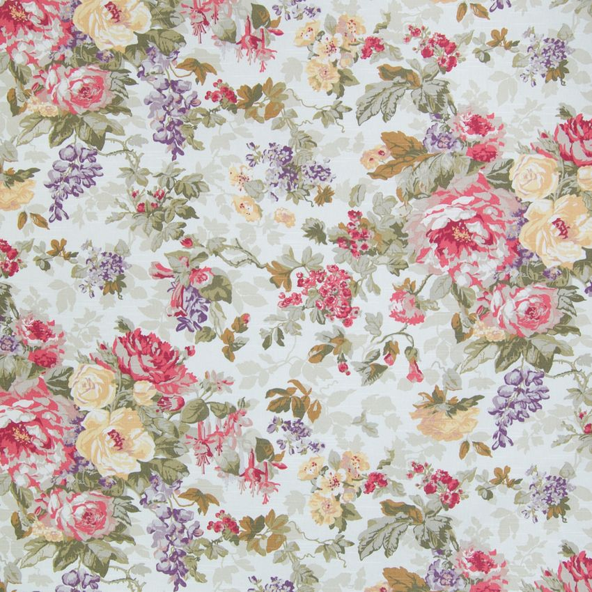 Biscuit Pink Floral Cotton Upholstery Fabric In 2020 Floral Upholstery Fabric Vintage Floral Fabric Floral Upholstery