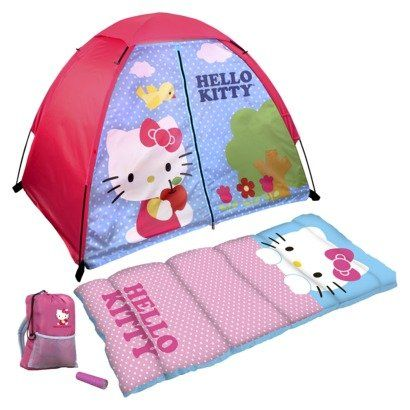 c299a96f77e Hello Kitty 4 Piece Fun Camp Kit Dome Sleeping Bag Flashlight -- Find out  more at the image link.  SleepingBagsandCampBedding