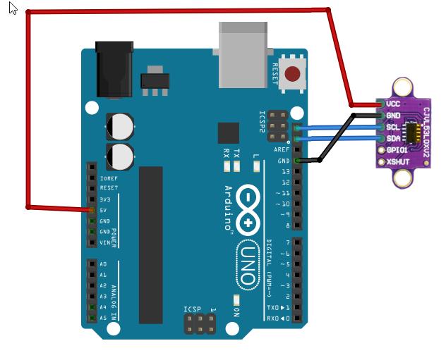 Vl53l0x Sensor De Distancia Que Mide Por La Velocidad De La Luz Time Of Fly Arduino Programación Circuito Arduino Sensor