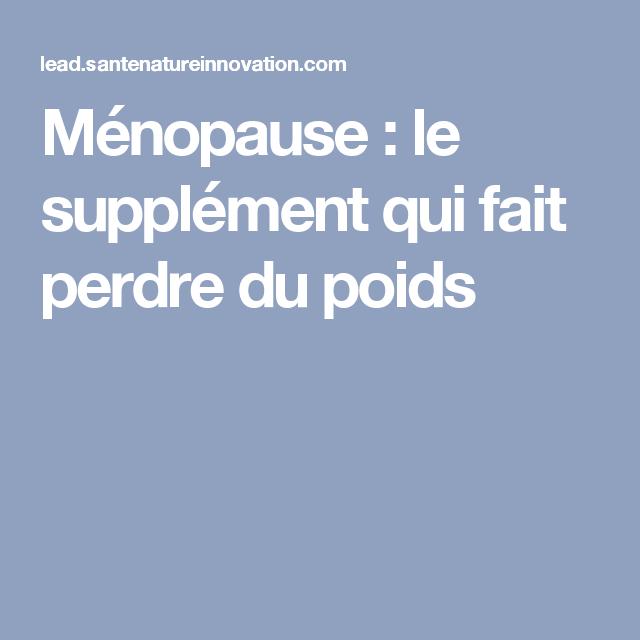 Perdre du poids naturellement à la ménopause