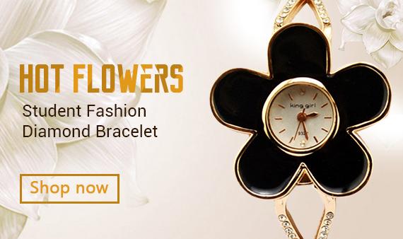 Hot Flowers Diamond Bracelet Diamond Watch Student Fashion Watches BK