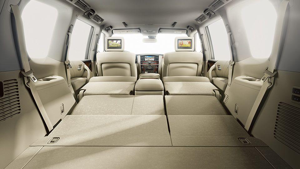 2017 nissan armada interior 60 40 split rear seating and. Black Bedroom Furniture Sets. Home Design Ideas