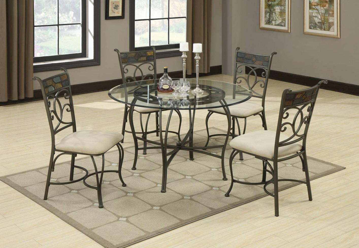 glass kitchen table sets with carpet and photo as well window and ...