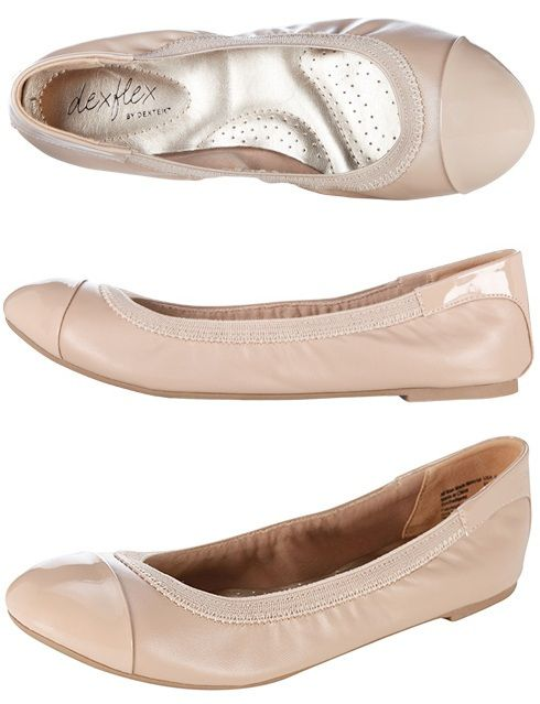 959d7317d8b8f [Payless] dexflex by Dexter Women's Claire Scrunch Flat in Nude. I have  these. They're the most comfortable shoes I have besides my cowgirl boots  and ...