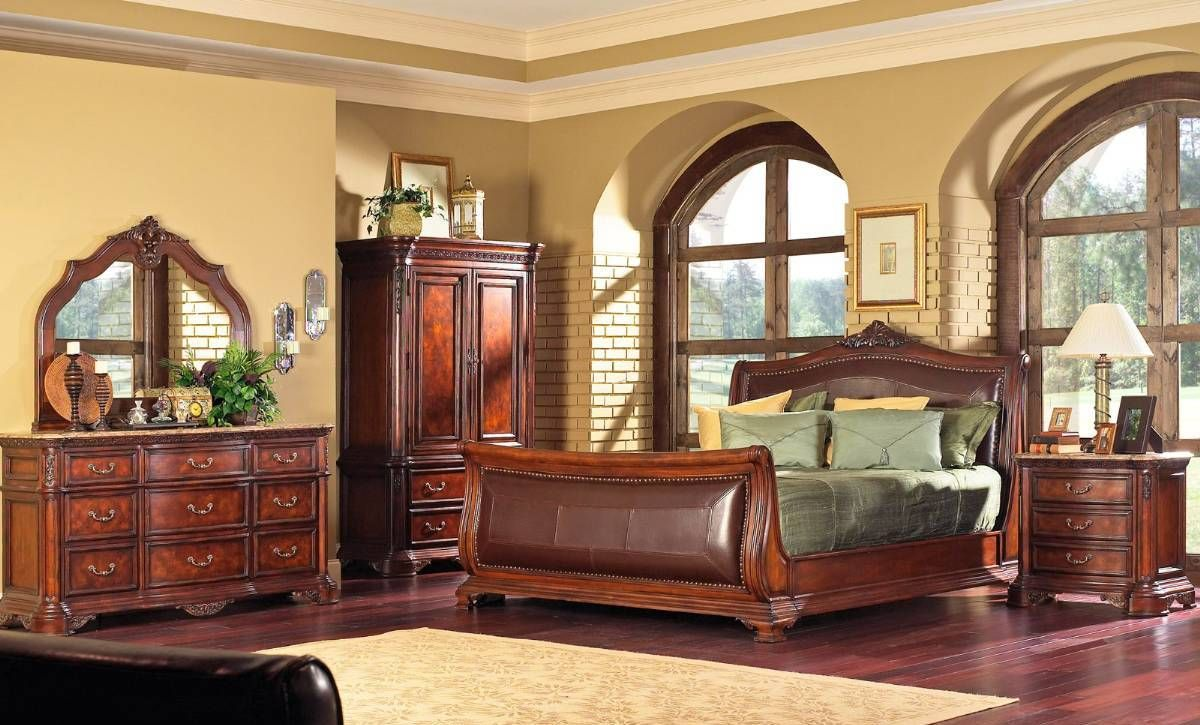 Mahogany Rustic Bedroom Furniture Long Lasting Rustic