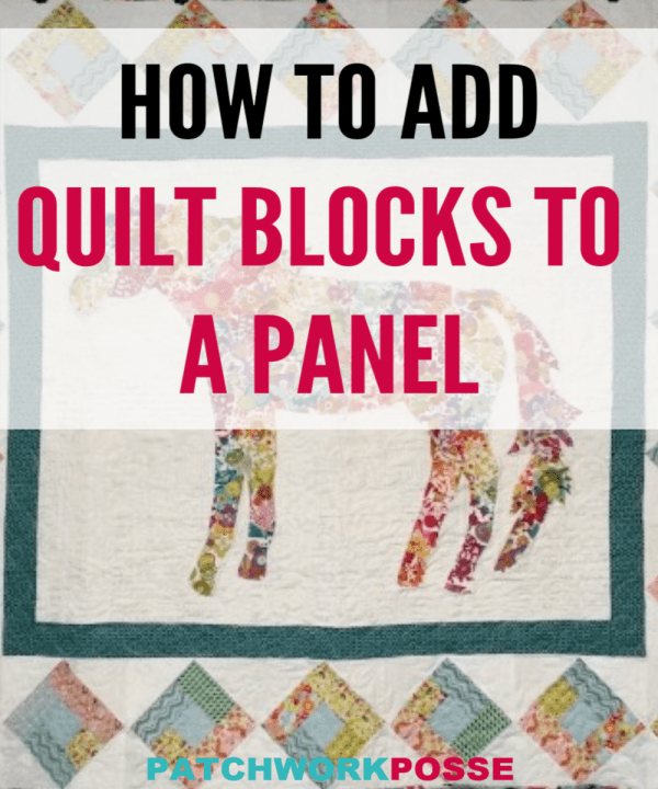 Horse Quilt Tutorial #horsepattern This horse quilt uses a center applique horse pattern and a quilt block border.Easy to sew and great for wall hangings-Follow the tutorial to make your own. #horsepattern