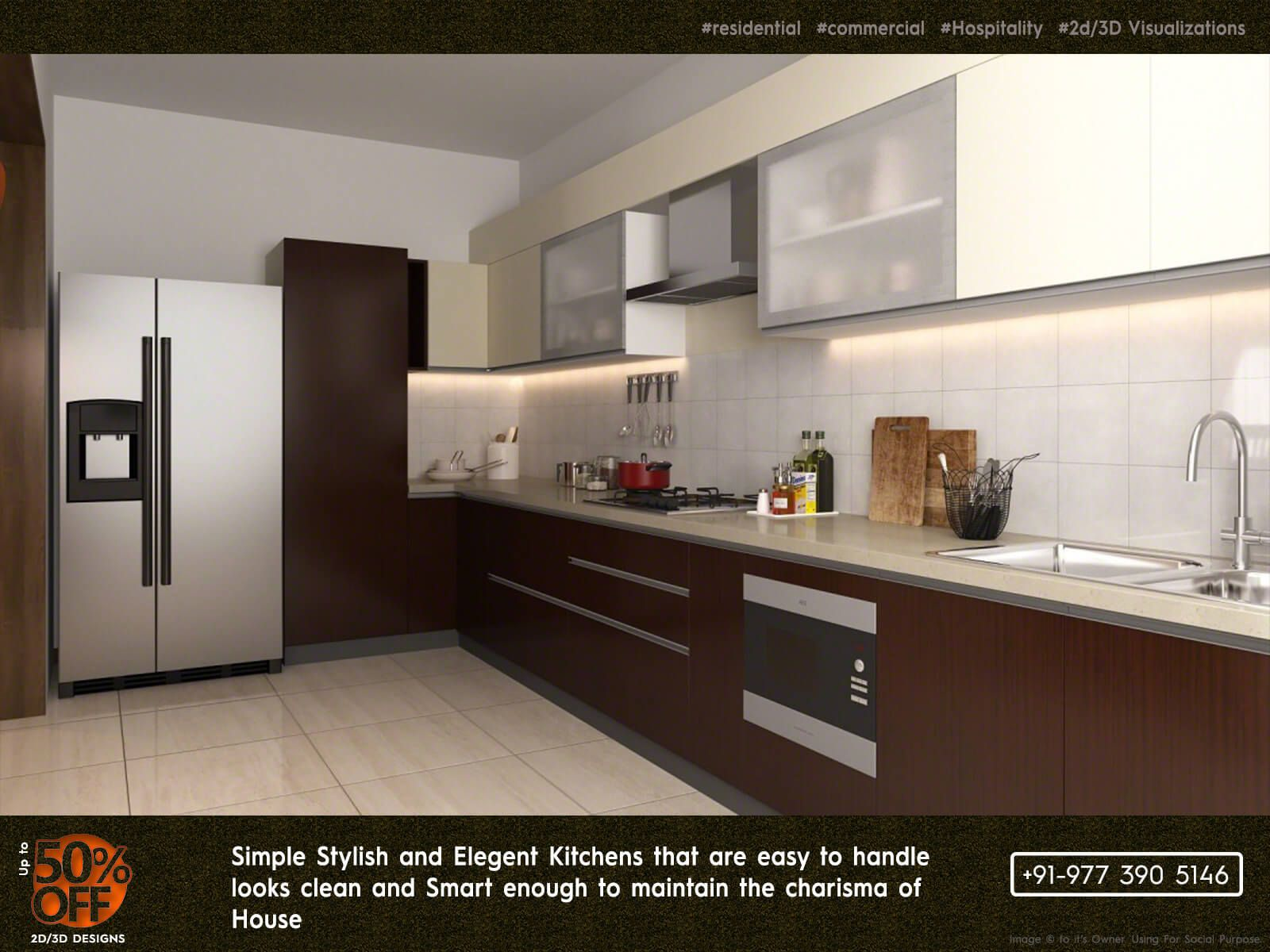 Smart Kitchens Conceptualized With 2d 3d Designs For Complex Interiors Available That Fits Kitchen Design Trends Kitchen Design Color Interior Design Kitchen