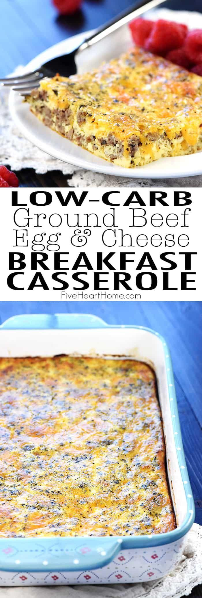 Ground Beef Egg Cheese Breakfast Casserole Lean Ground Beef Or Turkey Is Seasone Breakfast Sausage Recipes Ground Sausage Recipes Ground Beef Breakfast