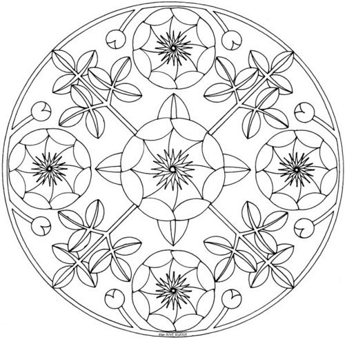 Peony Mandala Coloring Pages Color Colouring Pages